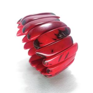 Bracciale elasticizzato in avorio vegetale – TAYA