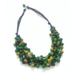 Collana in semi di açaì in tonalità verde/marrone – TAYA
