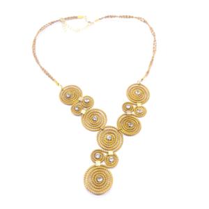 Collana in oro vegetale. Tutta la minuteria è bagnata nell'oro 14k. Colore naturale – TAYA