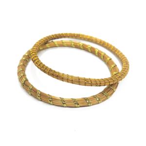 Set di due bracciali in oro vegetale – TAYA