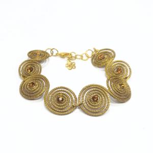 Bracciale in oro vegetale e strass – TAYA