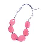 Collana in avorio vegetale. Colore rosa. – TAYA