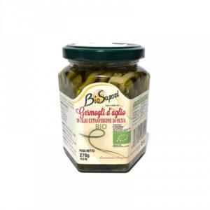 Germogli d'aglio bio sott'olio – BIOSAPORI
