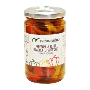 Peperoni a fette in agretto sott'olio – NATURAVICINA